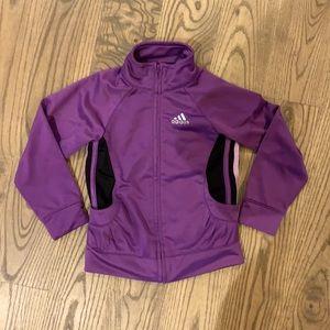 Purple Adidas track jacket